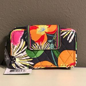 Vera Bradley Smartphone Wristlet in Jazzy Blooms